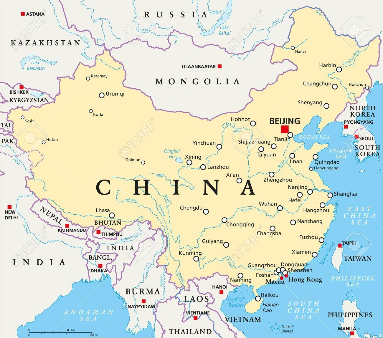 kina kart Hovedstaden i Kina kart   Kina hovedstaden kart (Øst Asia   Asia) kina kart