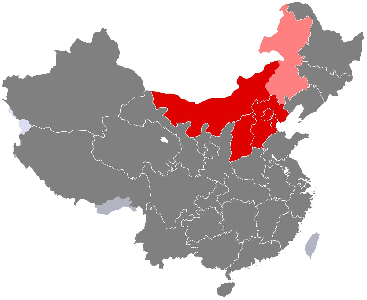 kart over øst asia Nord Kina kart   Kart over det nordlige Kina (Øst Asia   Asia) kart over øst asia