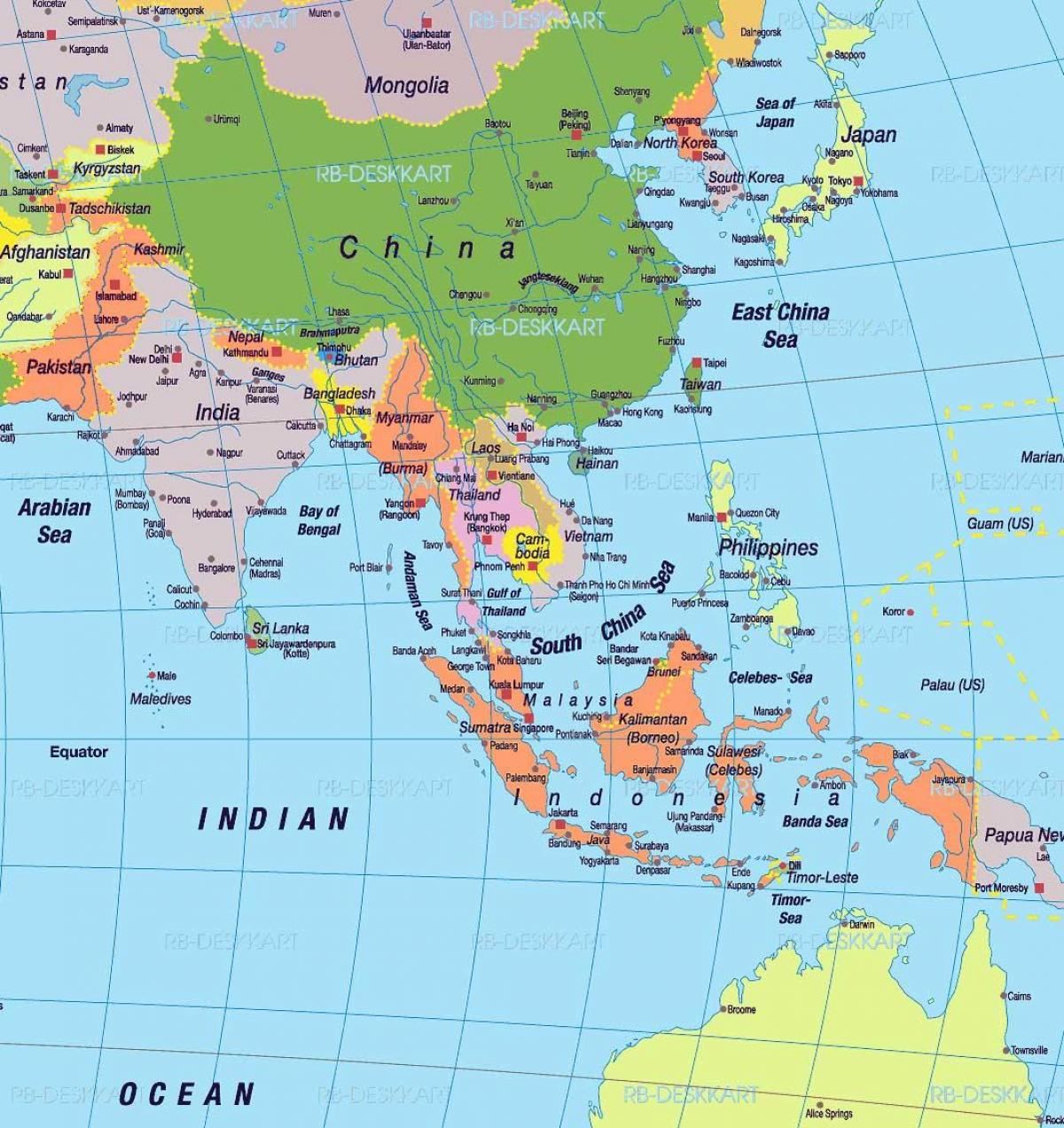 kart sør asia Kart over sør Kina   Sør Kina kart (Øst Asia   Asia) kart sør asia