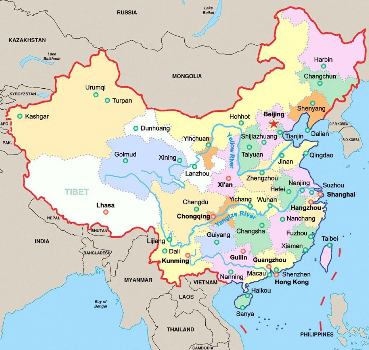 kart kina Kina på et kart   Kina på kartet (Øst Asia   Asia) kart kina