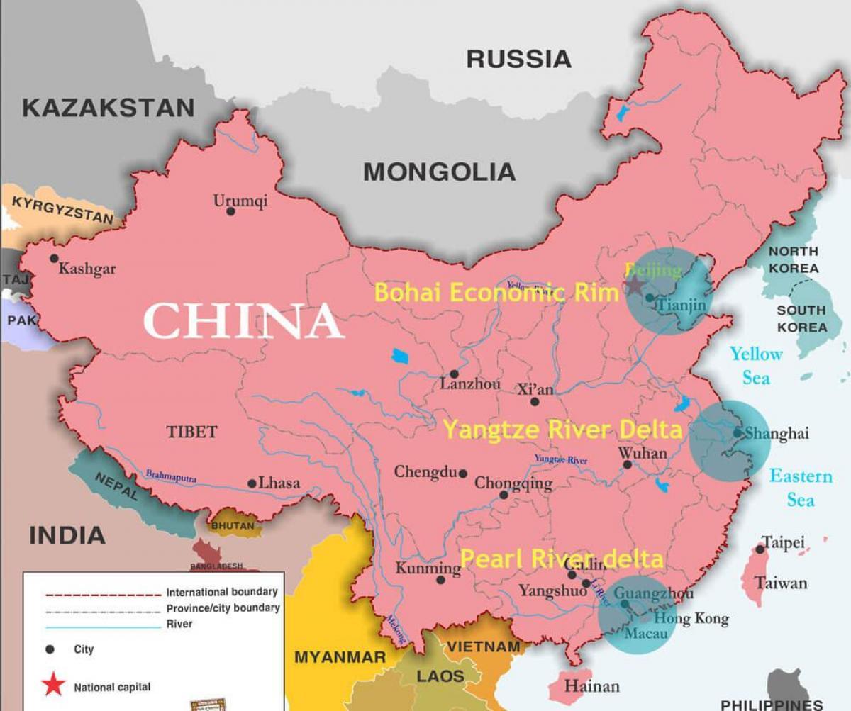 kart av kina Kina porter kart   Kart over Kina porter (Øst Asia   Asia) kart av kina